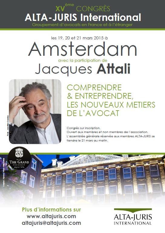 Congrès Alta-Juris avec Jacques ATTALI - Amsterdam